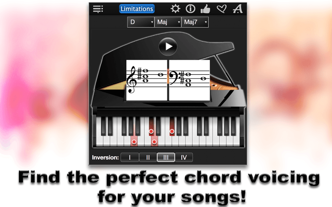 Find the perfect chord voicing  for your songs!