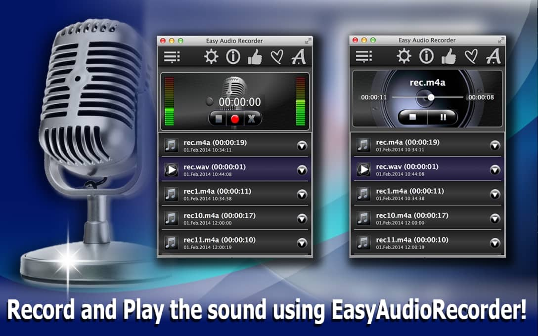 Record and play the sound using Easy Audio Recorder